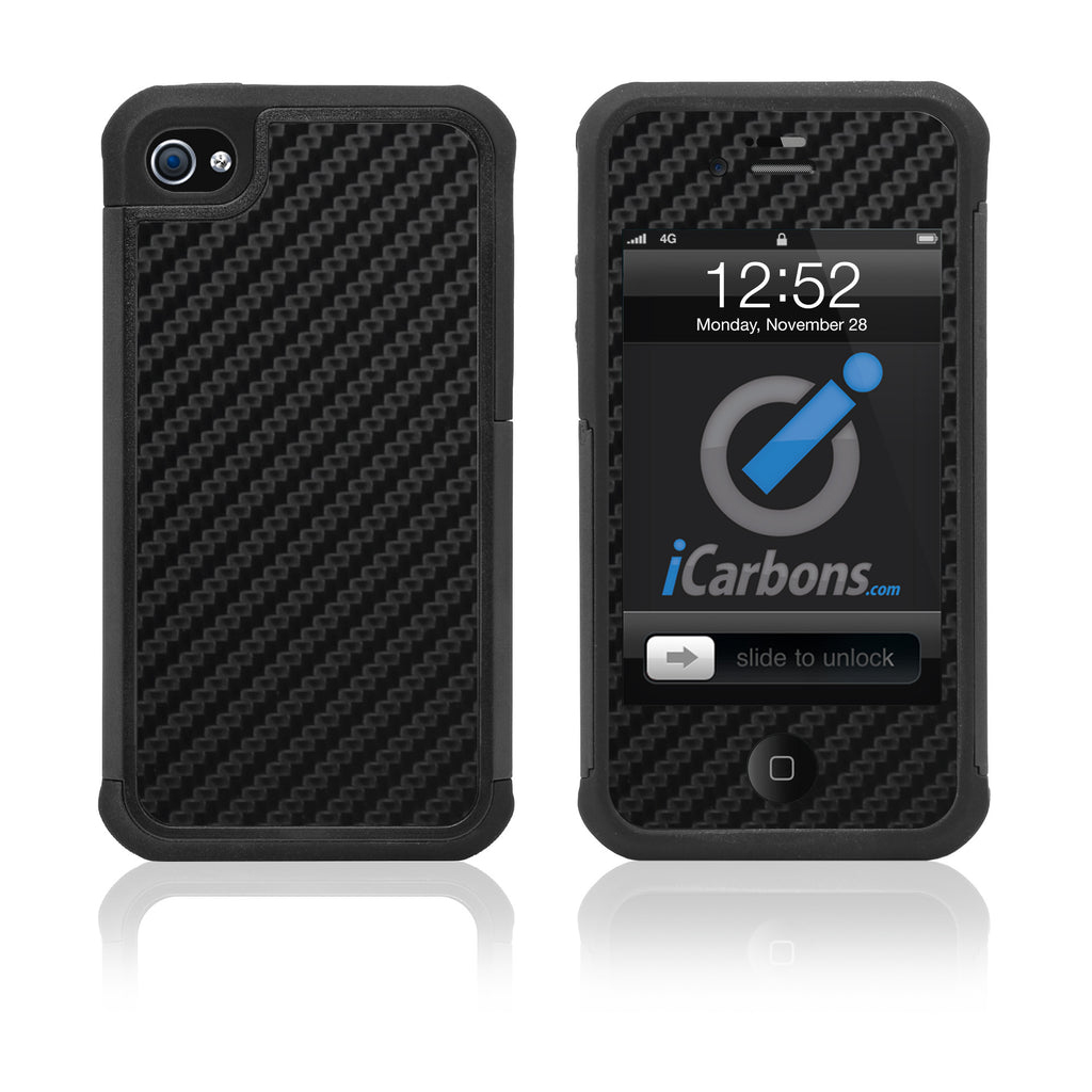 iPhone 4 / 4S HD Skin Case - Carbon Fiber - iCarbons - 1