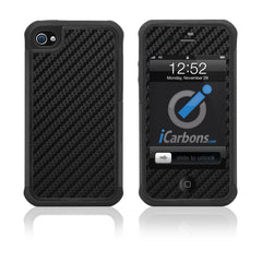 iPhone 4 / 4S HD Skin Case - Carbon Fiber