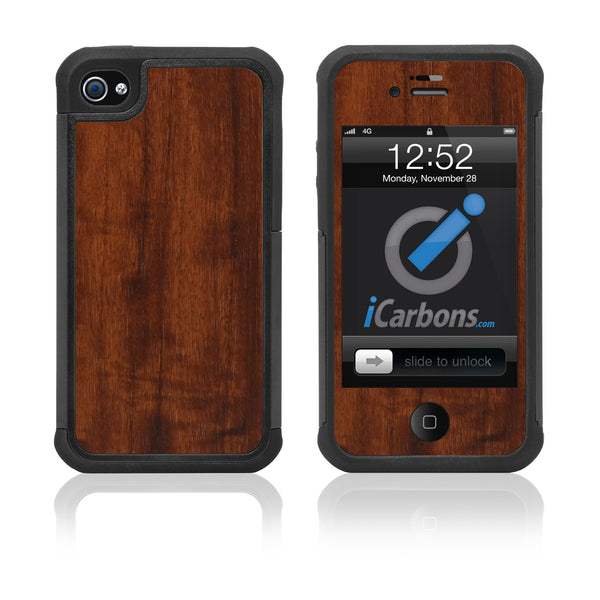 iPhone 4 / 4S HD Skin Case - Wood Grain - iCarbons - 1