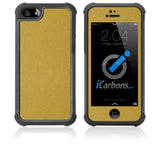 iPhone 5 / 5S HD Skin Case - Brushed Metal - iCarbons - 3