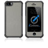 iPhone 5 / 5S HD Skin Case - Brushed Metal - iCarbons - 2