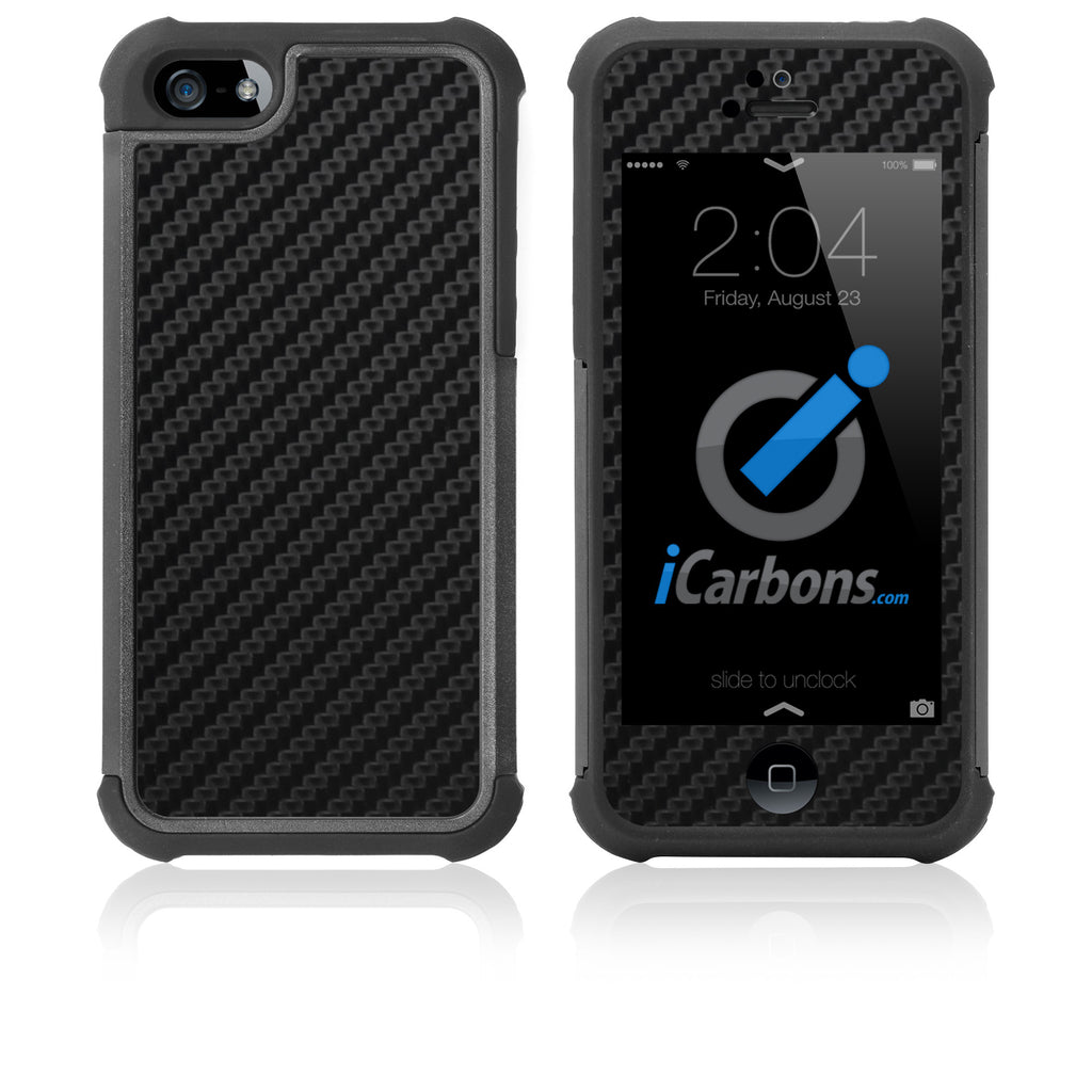 iPhone 5 / 5S HD Skin Case - Carbon Fiber - iCarbons - 1