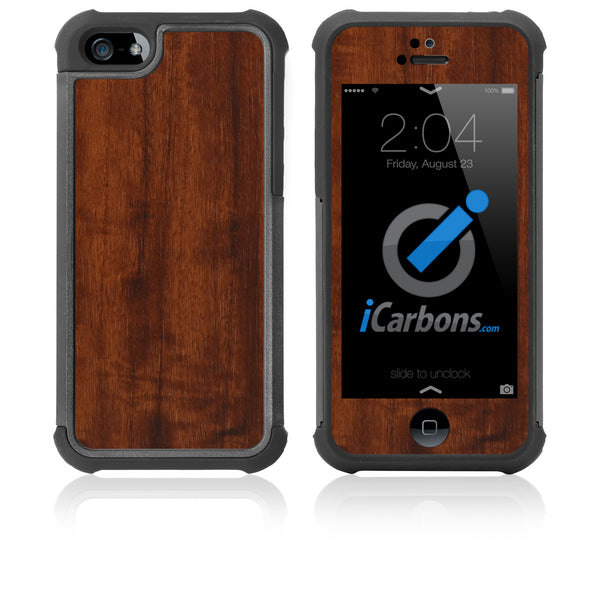 iPhone 5 / 5S HD Skin Case - Wood Grain - iCarbons - 1