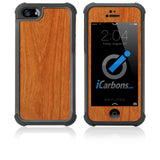 iPhone 5 / 5S HD Skin Case - Wood Grain - iCarbons - 2