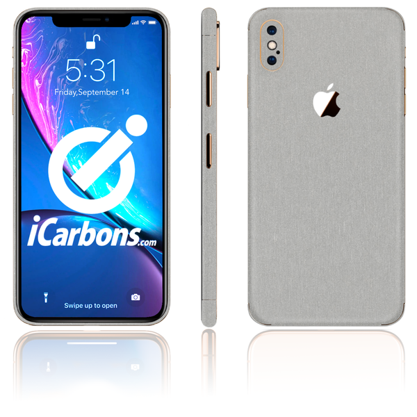 iPhone Xs Max Skins - Brushed Metal