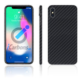 iPhone X No Logo Black Carbon