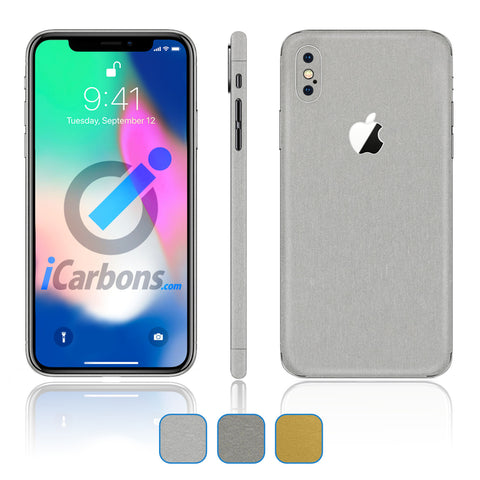 iPhone X Skins - Brushed Metal