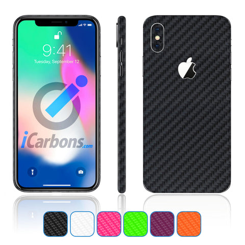 iPhone X Skins - Carbon Fiber
