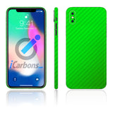 iPhone X No Logo Green Carbon