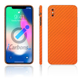 iPhone X No Logo Orange Carbon