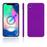 iPhone X No Logo Purple Carbon