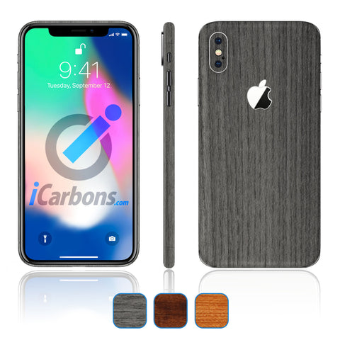 iPhone X Skins - Wood Grain
