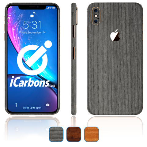 iPhone Xs Max Skins - Wood Grain