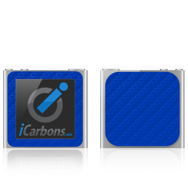 iPod Nano 6th Gen - Blue Carbon Fiber - iCarbons