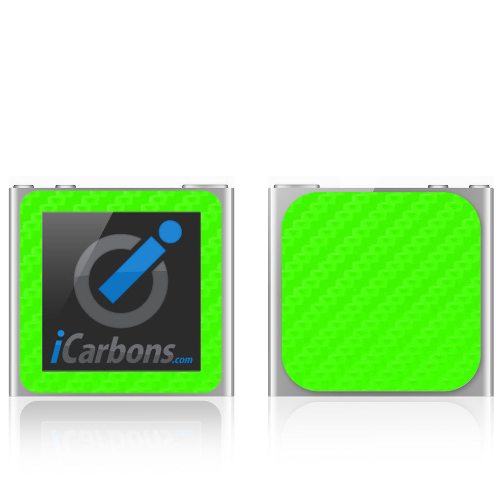 iPod Nano 6th Gen - Green Carbon Fiber - iCarbons