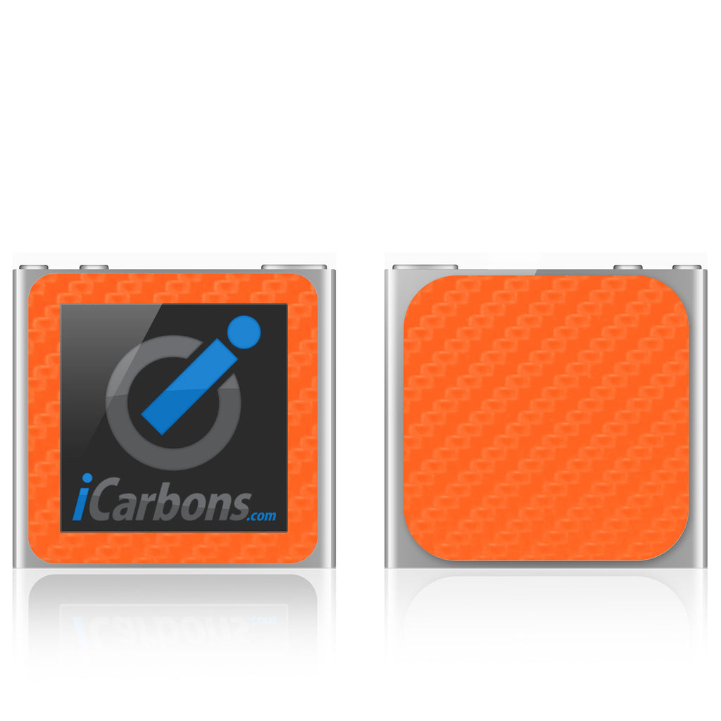 iPod Nano 6th Gen - Orange Carbon Fiber - iCarbons