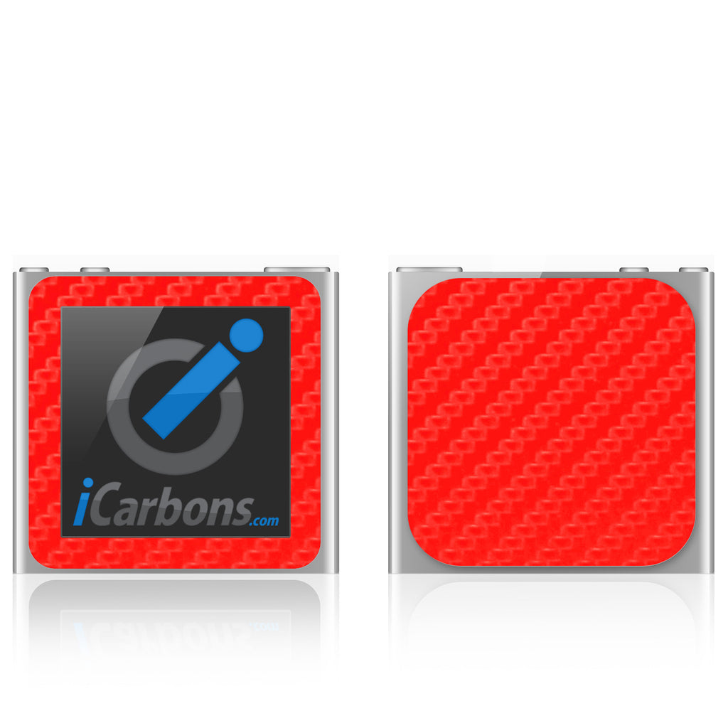 iPod Nano 6th Gen - Red Carbon Fiber - iCarbons