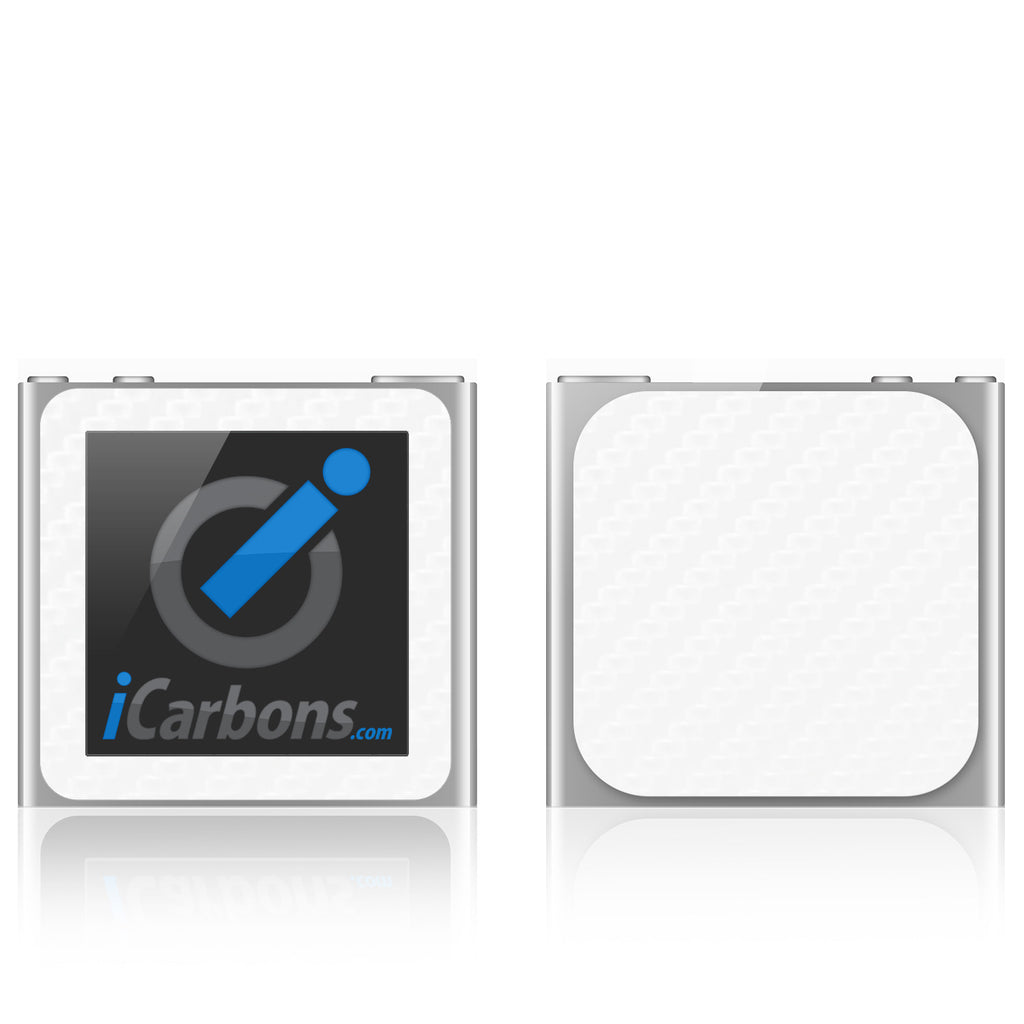 iPod Nano 6th Gen - White Carbon Fiber - iCarbons