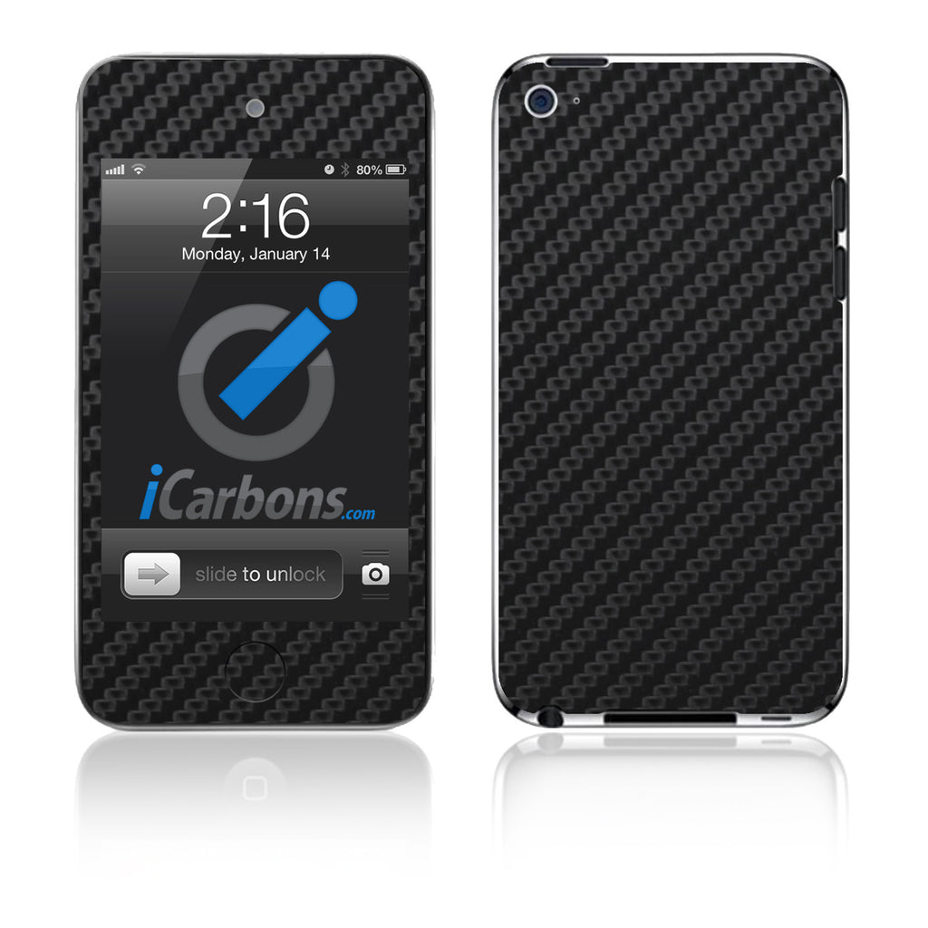 iPod Touch 1st - 4th Gen - Black Carbon Fiber - iCarbons - 1