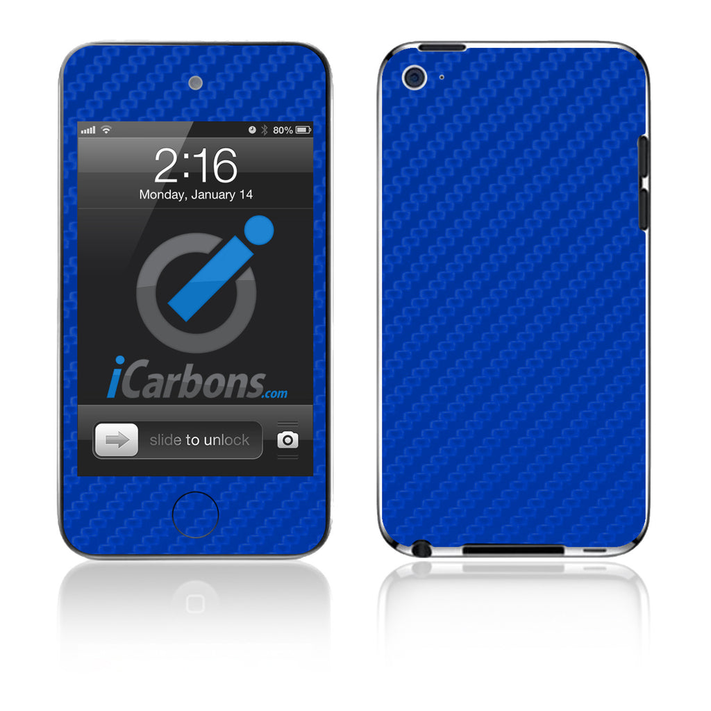 iPod Touch 1st - 4th Gen - Blue Carbon Fiber - iCarbons