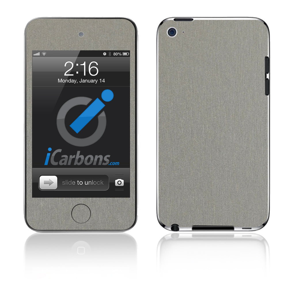 iPod Touch 1st - 4th Gen - Brushed Titanium - iCarbons