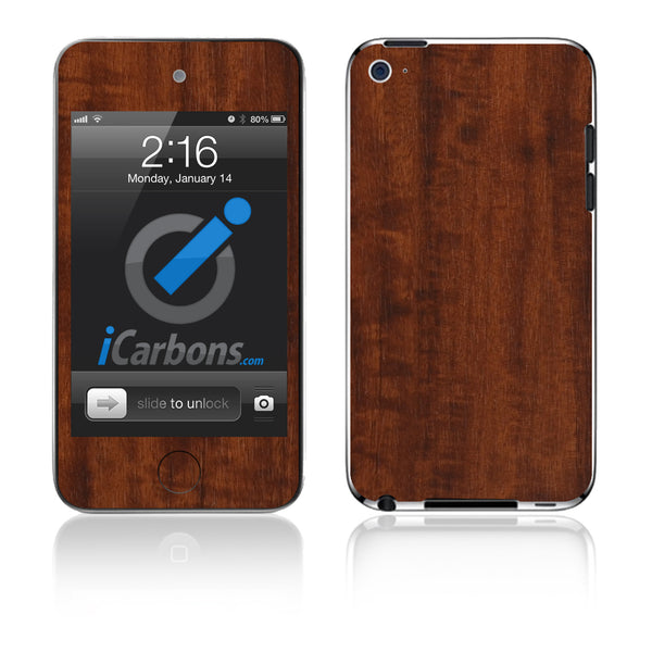 iPod Touch 1st - 4th Gen - Dark Wood - iCarbons