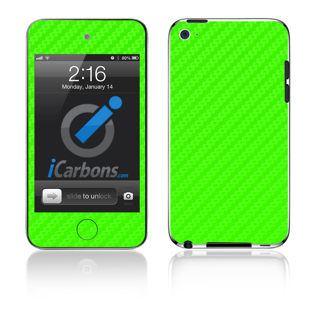 iPod Touch 1st - 4th Gen - Green Carbon Fiber - iCarbons