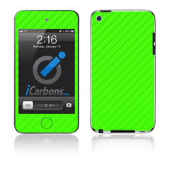 iPod Touch 1st - 4th Gen - Green Carbon Fiber