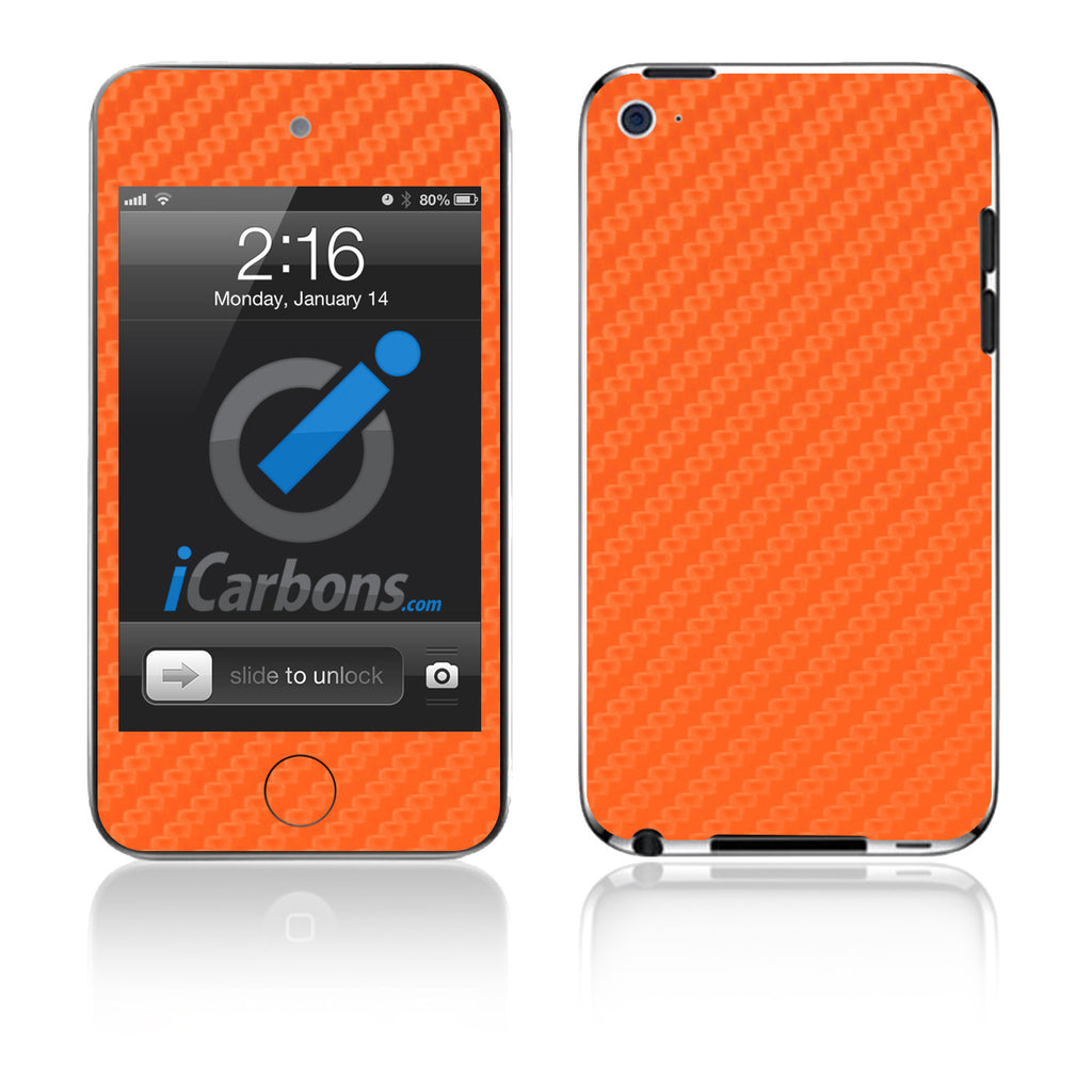 iPod Touch 1st - 4th Gen - Orange Carbon Fiber - iCarbons