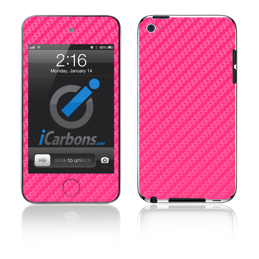iPod Touch 1st - 4th Gen - Pink Carbon Fiber - iCarbons