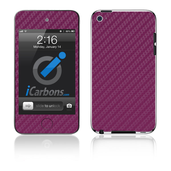 iPod Touch 1st - 4th Gen - Purple Carbon Fiber - iCarbons