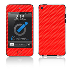 iPod Touch 1st - 4th Gen - Red Carbon Fiber