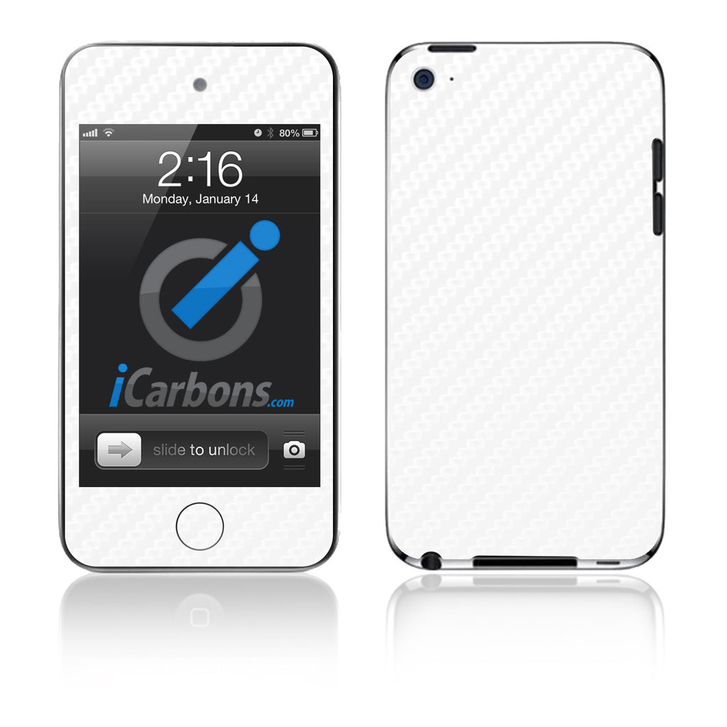 iPod Touch 1st - 4th Gen - White Carbon Fiber - iCarbons