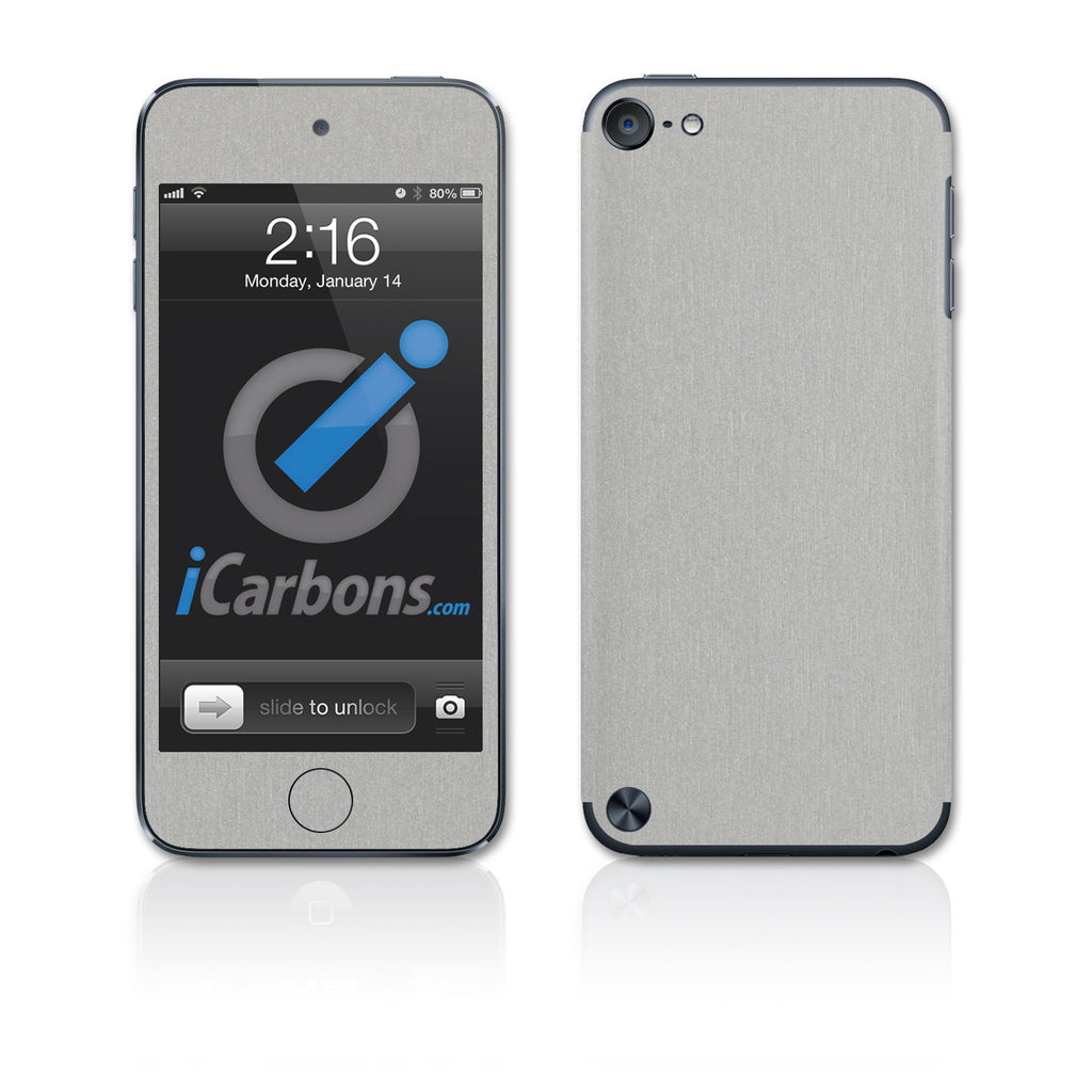iPod Touch 5th Gen Skins - Brushed Metal - iCarbons - 1
