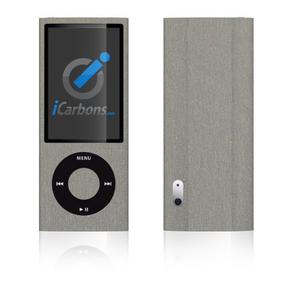 iPod Nano 5th Gen - Brushed Titanium - iCarbons