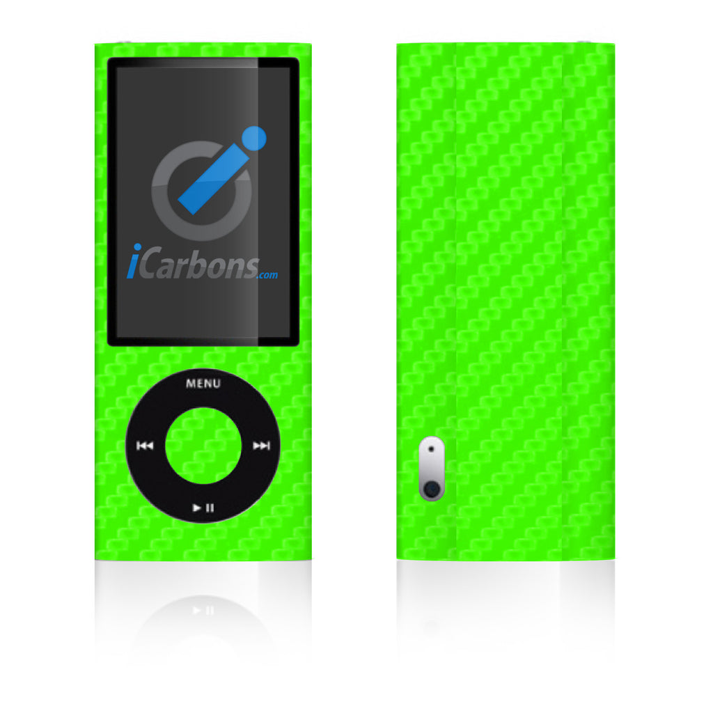 iPod Nano 5th Gen - Green Carbon Fiber - iCarbons