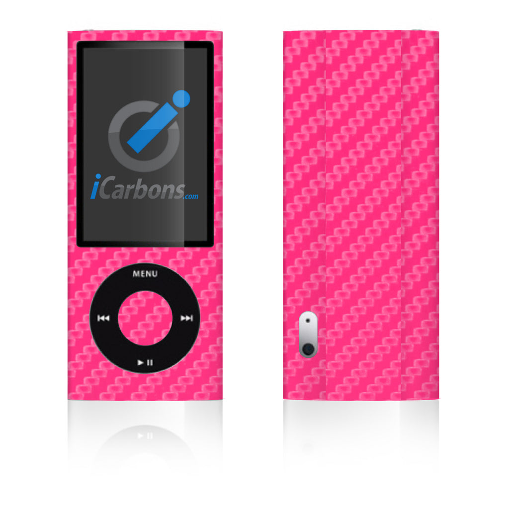 iPod Nano 5th Gen - Pink Carbon Fiber - iCarbons
