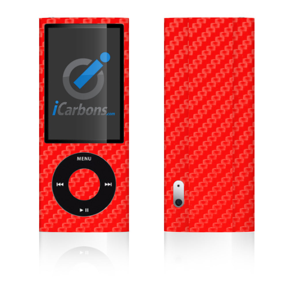 iPod Nano 5th Gen - Red Carbon Fiber - iCarbons