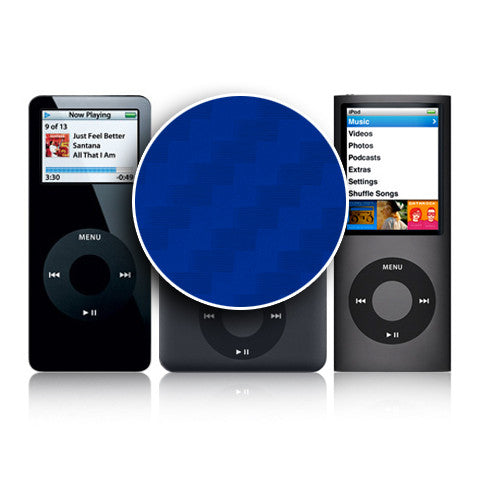 iPod Nano 1st - 4th Gen - Blue Carbon Fiber - iCarbons - 1