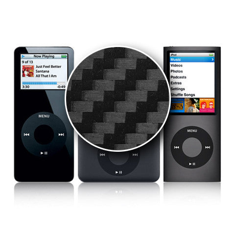 iPod Nano 1st - 4th Gen - Black Carbon Fiber - iCarbons - 1