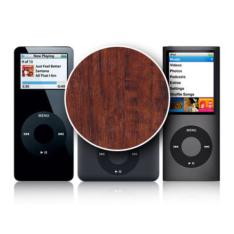 iPod Nano 1st - 4th Gen - Dark Wood - iCarbons - 1