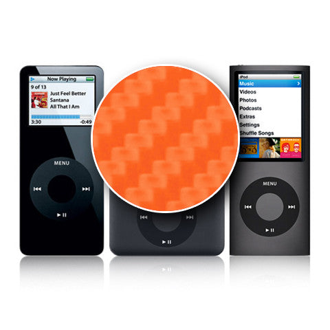 iPod Nano 1st - 4th Gen - Orange Carbon Fiber - iCarbons - 1