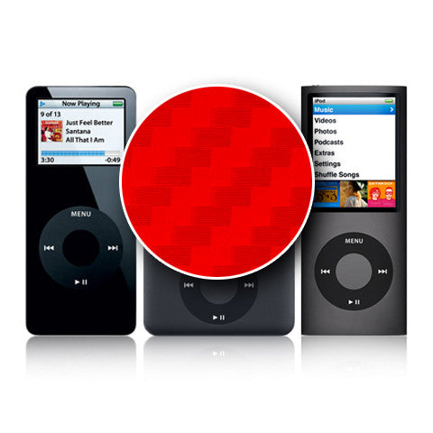 iPod Nano 1st - 4th Gen - Red Carbon Fiber - iCarbons - 1