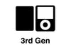 iPod Nano 1st - 4th Gen - White Carbon Fiber - iCarbons - 4