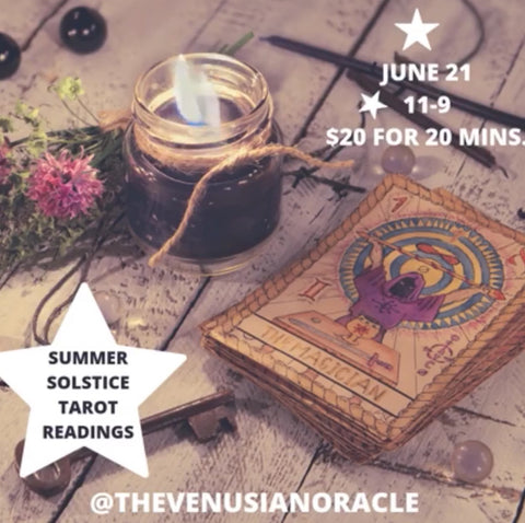 Summer Solstice Tarot Readings via FaceTime, WhatsApp, or Email - The Venusian Oracle