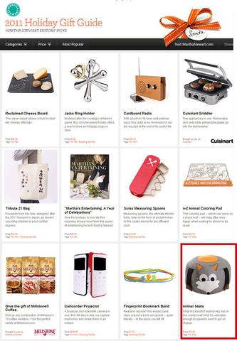 Martha Stewart Holiday Gift Guide 2011