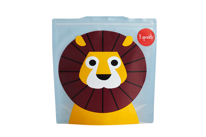 lion sandwich bag (2 pack)