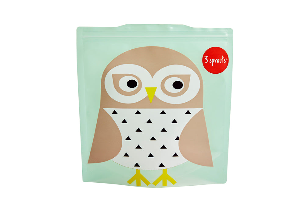 owl sandwich bag (2 pack)