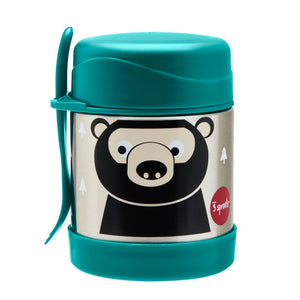 bear stainless steel food jar