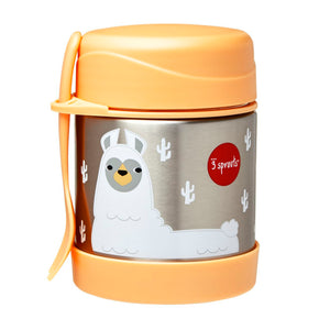 llama stainless steel food jar